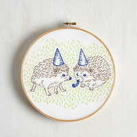Handmade & DIY Party Animals Embroidery Kit by ModCloth