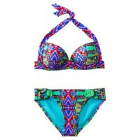 Xhilaration® Junior's 2-Piece Swimsuit -Geometric Print