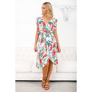 Always On Your Mind Floral Dress (Ivory Mix)