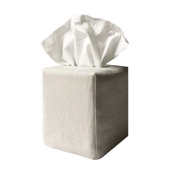 james tissue box cover in stone