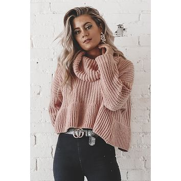 Peppermint Schnapps Canyon Rose Chenille Sweater