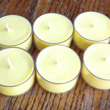 Monkey Farts Soy Tea Light Candles - Set of 6 Scented Soy Tealights - Banana Scented Candles - Fruit Scented Candles - Banana Tea Lights