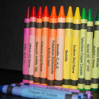 Chemistry Crayon Labels - set of 120