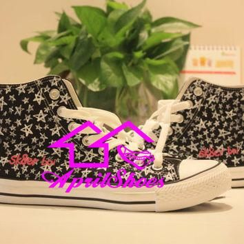 Customizing Shoes High Top Converse, Sk8er Boi Inspired Shoes, Distinctive All Star Sn