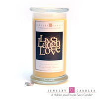 LIVE LAUGH LOVE Jewelry Greeting Cards Candles