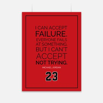 Failure Michael Jordan Quote Poster