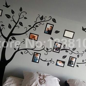 Shipping:Large *250Cm/*Black Photo Decals/Adhesive Family Stickers Mural Decor