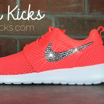 Nike Roshe One Customized by Glitter Kicks - Orange White 617dbbe9123b
