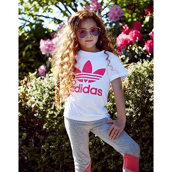"Kids Fashion ""Adidas"" Print T-Shirt Top Tee children clothes"
