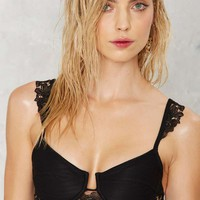For Love & Lemons Barcelona Lace Bikini Top