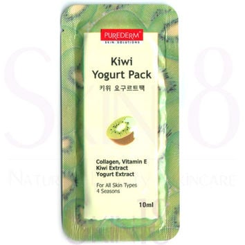 PUREDERM Kiwi Yogurt Pack (Wash-Off Mask)