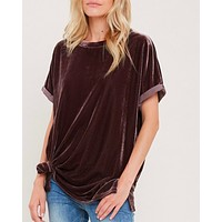 on the road velvet top - midnight