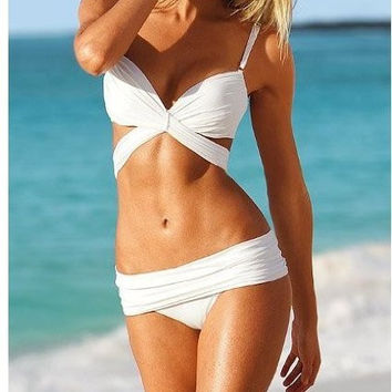 Angel Stripe Wrap Sexy Bikini&Swimsuit