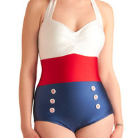 Merry Mariner One Piece | Mod Retro Vintage Bathing Suits | ModCloth.com
