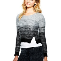 Zip Ombre Sweater