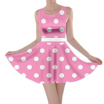 Adult Minnie Pink Inspired Skater Dress