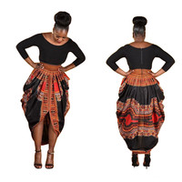 Zipper Back Closure Dashiki Skirt