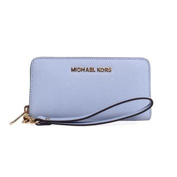 Michael Kors Jet Set Travel Large Coin Multifunction PALE BLUE