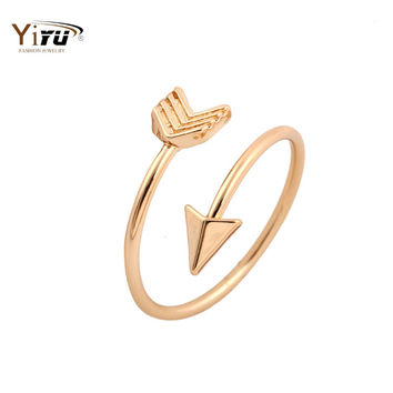 2016 New Fashion Rings Brass Small Arrow Cute Wedding Rings for Women Gift in Party R008