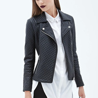 Casual Black Faux Leather Turn Down Collar Long Sleeve Zipper Front Jacket