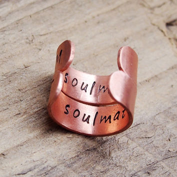 Personalized couples rings, Couples rings, custom ring, stamped rings, Customized rings, personalized ring, couples matching rings, soulmate