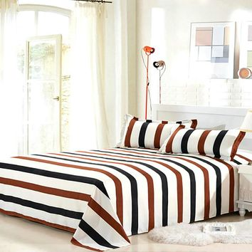 flat Bed Sheet Twin/Full/Queen/King Size with 9 Patterns