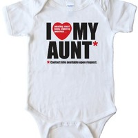 I LOVE MY AUNT - CONTACT INFO AVAILABLE UPON REQUEST - BABY Onesuit