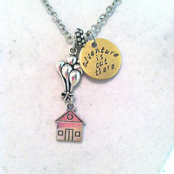 "Disney's ""Up"" Inspired ""adventure is out there"" necklace"
