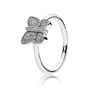 PANDORA Sparkling Butterfly Ring - Size 7.5