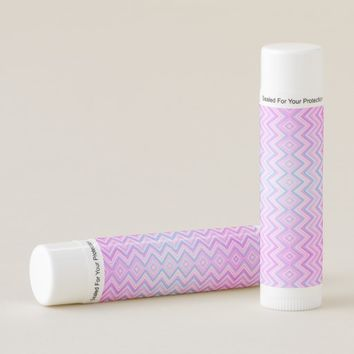 Multicolored wavy patterns lip balm