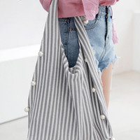 Pearl Trim Hobo Bag