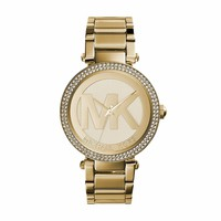 Michael Kors MK5784 Ladies All Gold Logo Parker Watch