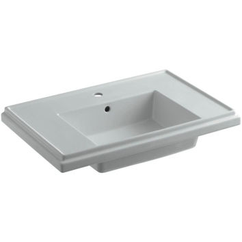 K-2758-1-95 Tresham 30 in. Pedestal Sink Basin in Ice Grey