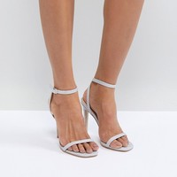 Public Desire Notion glitter Barely There Heeled Sandals at asos.com