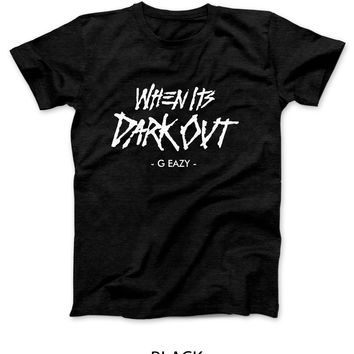 G Eazy When Its Dark Out Title Mens T Shirt