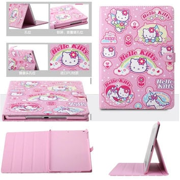 Cute Hello Kitty Kids Cover For IPad Mini 4 Case Magnetic Smart PU Leather Stand Tablet Case Cover Case For Gitls Gift 7.9 Inch
