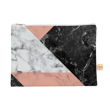 "KESS Original ""Geo Marble and Coral"" Black Art Deco Everything Bag"