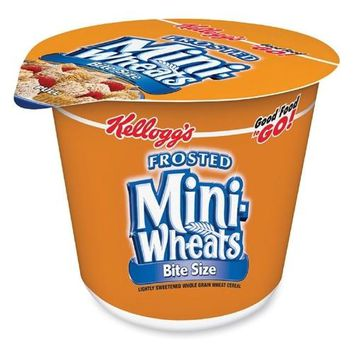 Keebler Cereal-In-A-Cup, 2.5 oz., 6/PK, Frosted Mini Wheats Case Pack 3