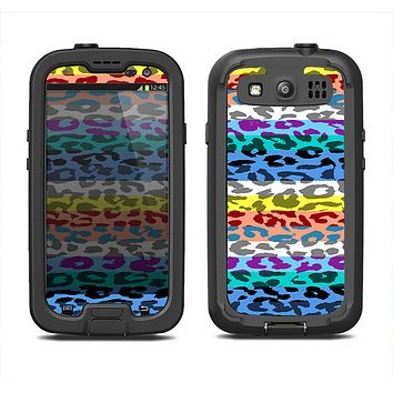 The Color Striped Vector Leopard Print Samsung Galaxy S3 LifeProof Fre Case Skin Set