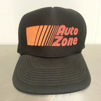 Vintage 1980's Autozone Trucker Snapback Hat cap Car Parts Hipster Style Mesh and Foam Dad Hat