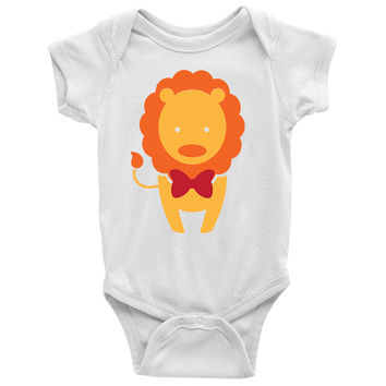 Lion With Bow Baby Onesuit