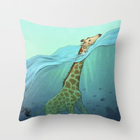 Breathe Throw Pillow by Tim Kaminski