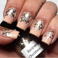Christmas Ornaments - Silver And Gold Handmade Nail Polish