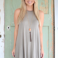 Athens Swing Dress- Clay