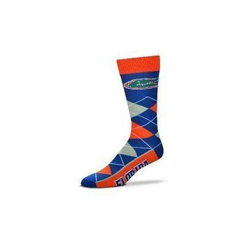 NCAA Florida Gators Argyle Unisex Crew Cut Socks - One Size Fits Most