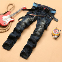 Style Men Spaghetti Strap With Pocket Hot Sale Jeans [6544720643]