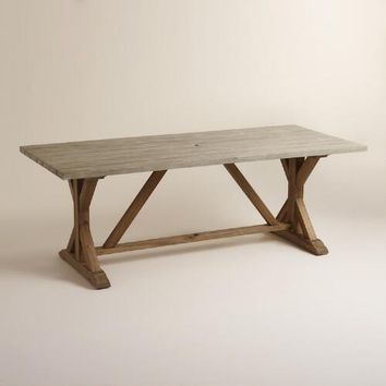 Two Tone Wood San Remo Trestle Dining Table