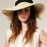 ASOS | ASOS '70s Straw Floppy Hat at ASOS