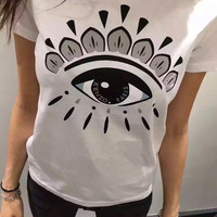 Kenzo Fashion Trending Eye t-shirt White