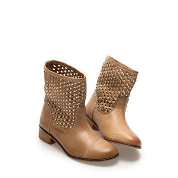 BRAIDED ANKLE BOOT - Ethnic style - Girl - Kids - ZARA United States